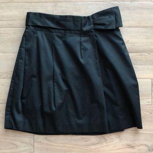 """BCBG MAX AZRIA """"Mila"""" Black Bow Miniskirt - SIZE 6"""